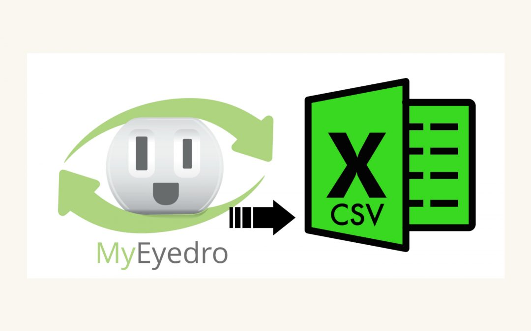 How to Export to Excel from MyEyedro