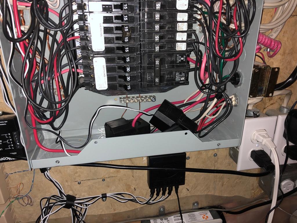 Eyedro EYEFI-4 Installed in Electrical Panel