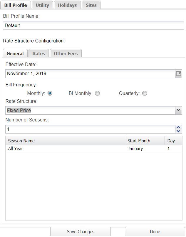 MyEyedro Fixed Rate Structure